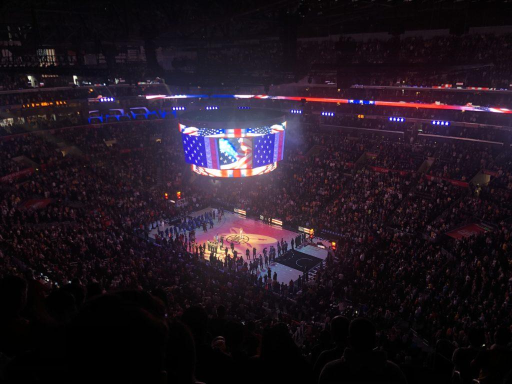 Match de NBA, Lakers vs Clippers Vu lors de notre voyage à Los Angeles