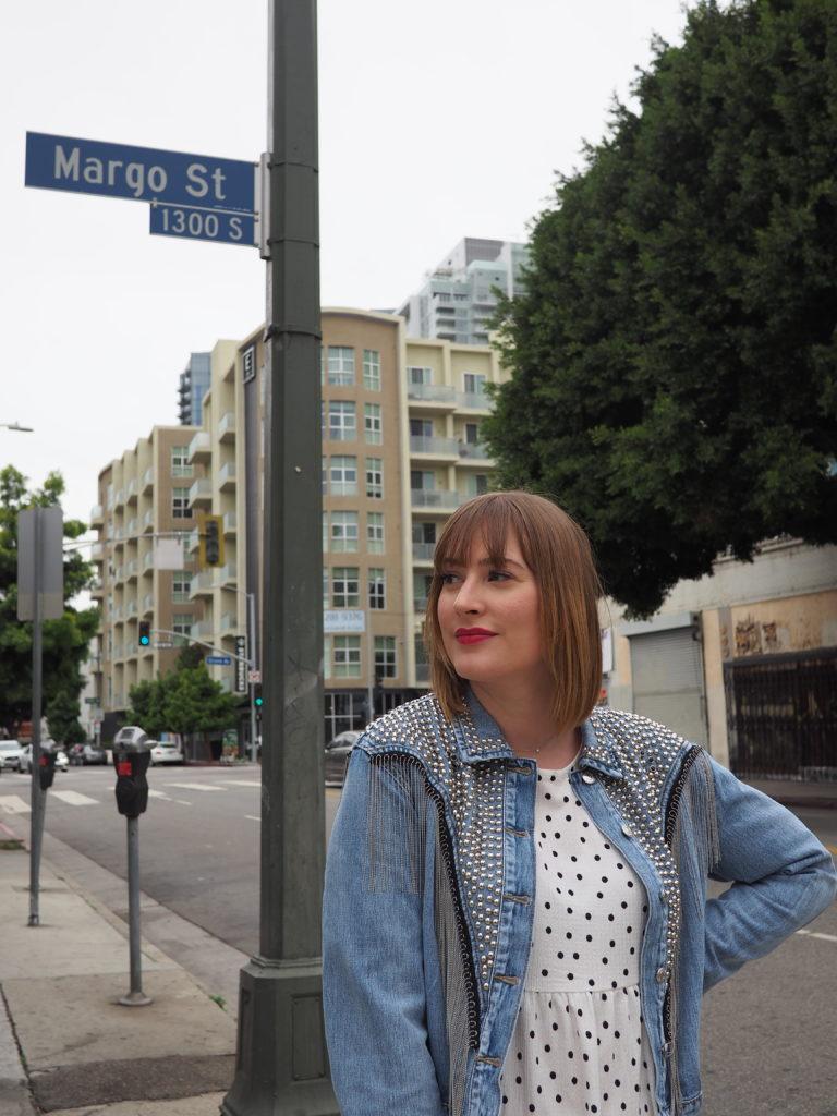 Margo Street vu lors de notre voyage à Los Angeles
