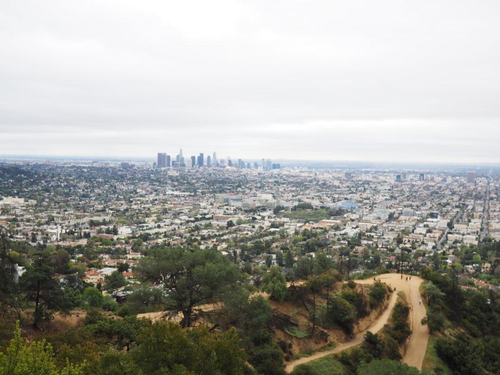 Vu du Griffith observatory lors de notre voyage à Los Angeles