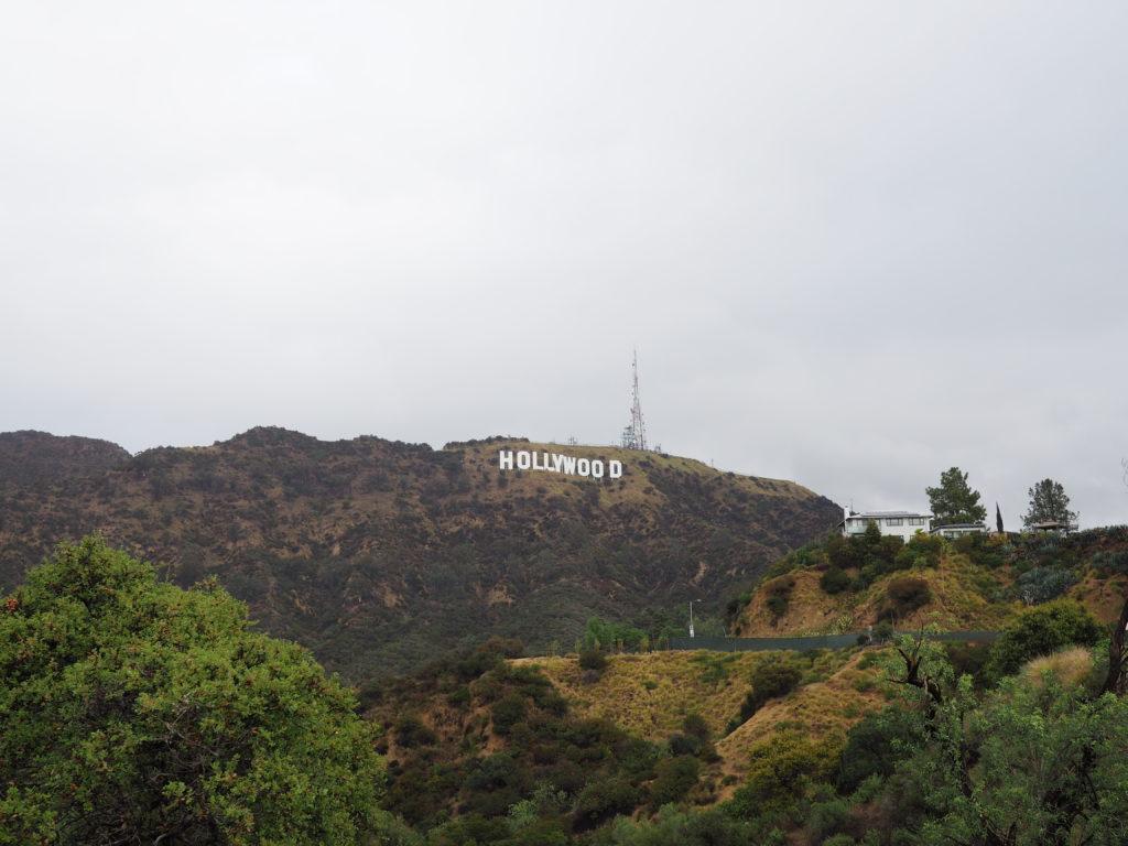 Vu du Hollywood sign lors de notre voyage à Los Angeles
