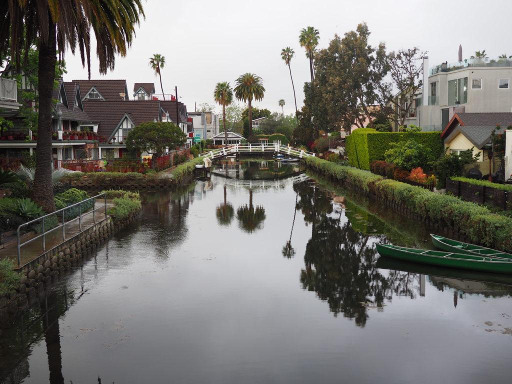 Canaux de Venice beach Vu lors de notre voyage à Los Angeles